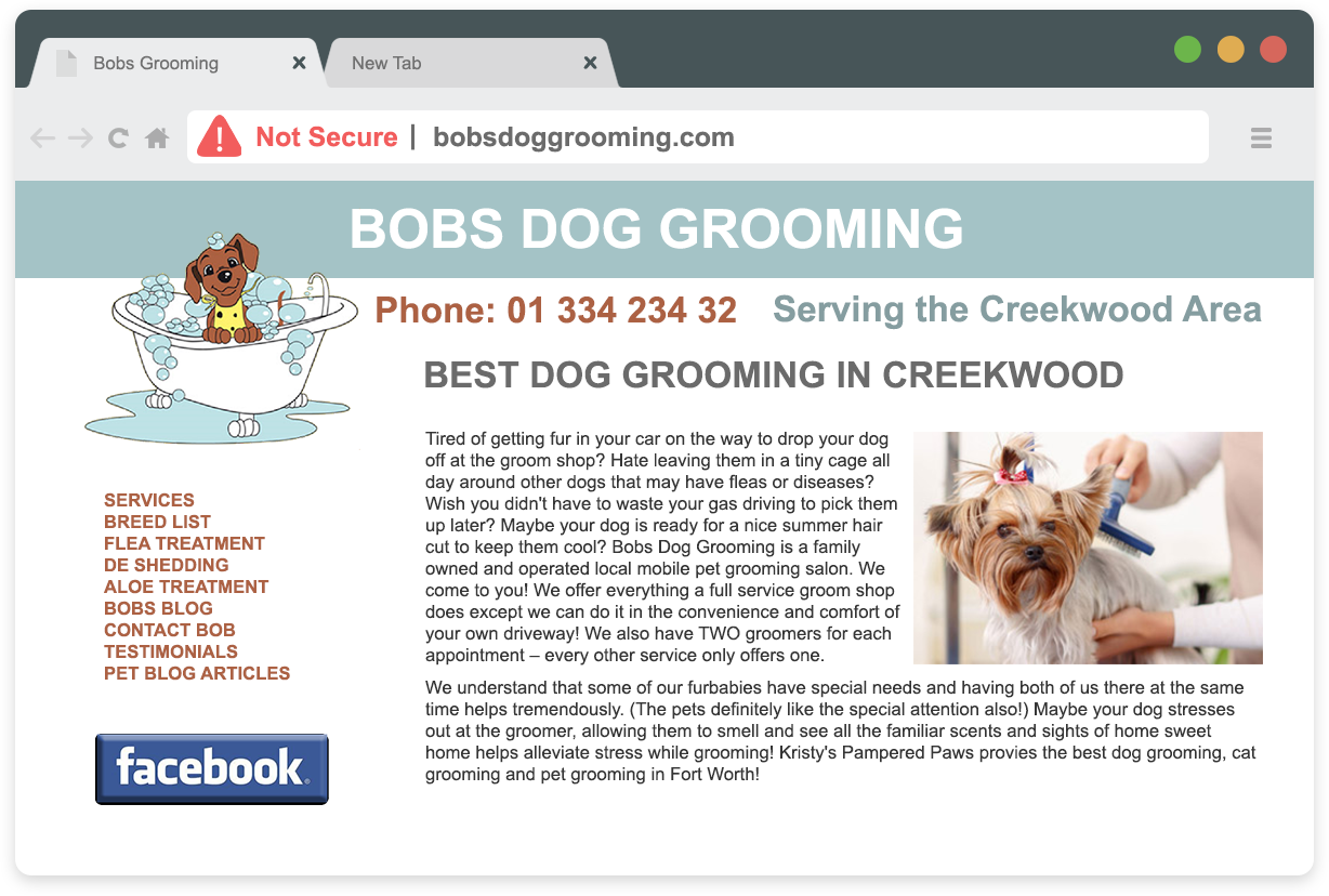 Typical Dog Grooming Website Problems